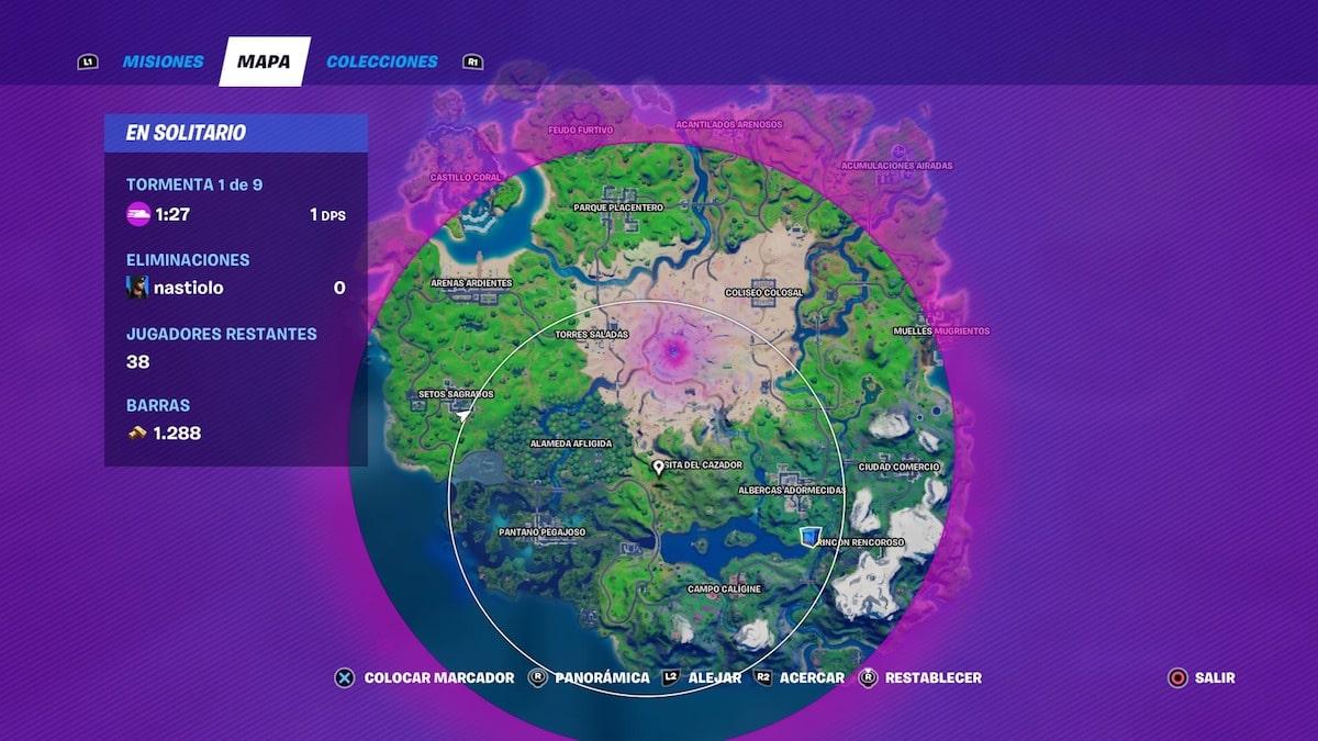 Mapa tormenta Fortnite