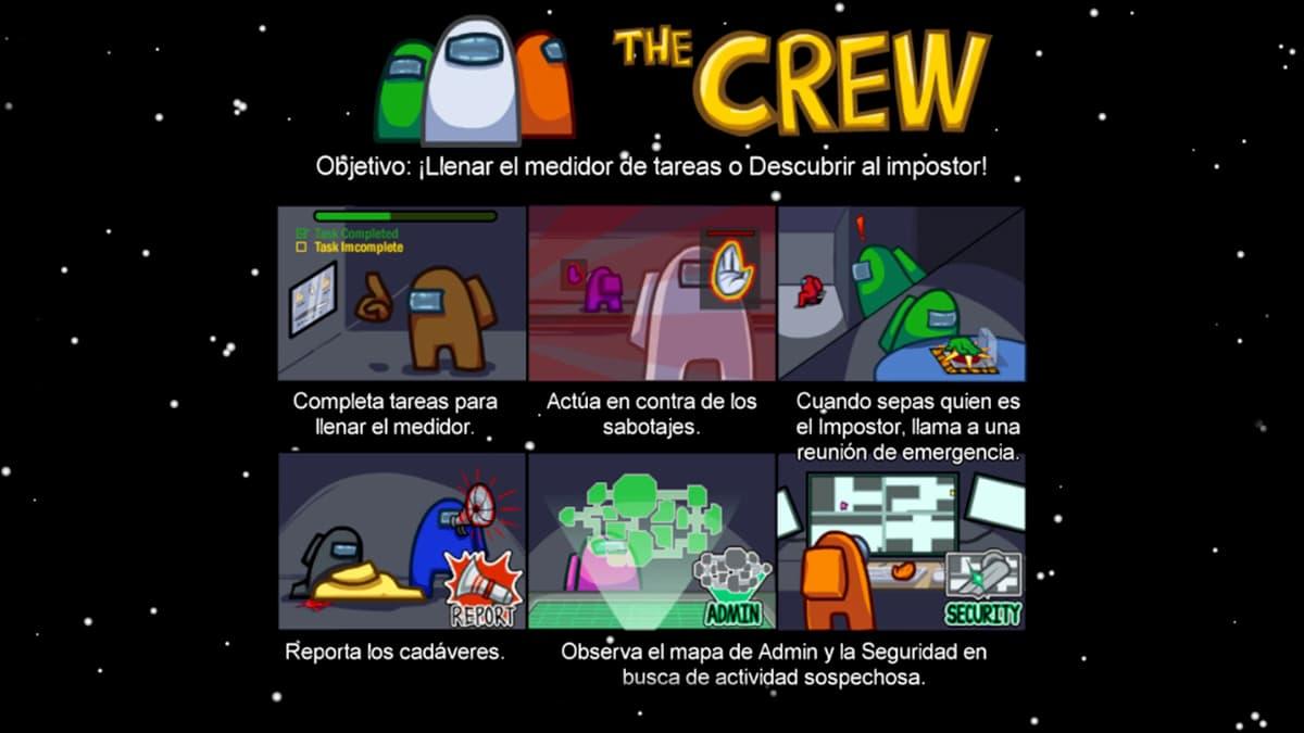 La tripulación en Among Us