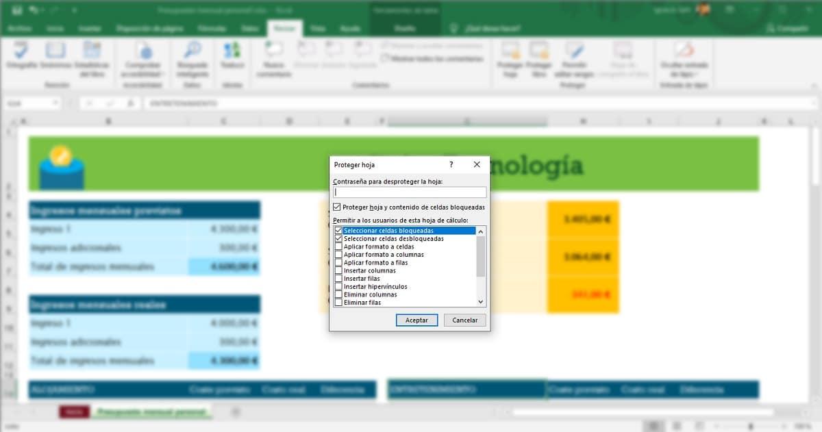 Proteger libro con contraseña en Excel