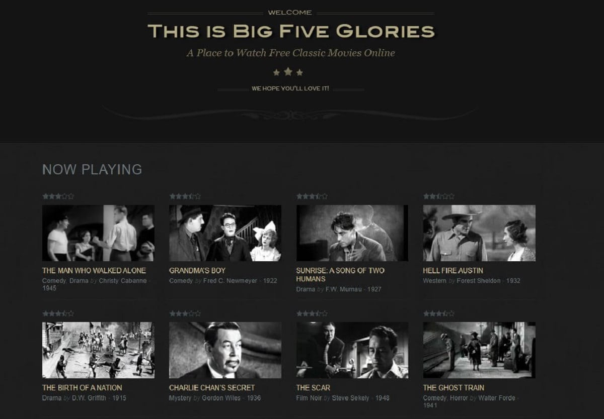 Big Five Glories