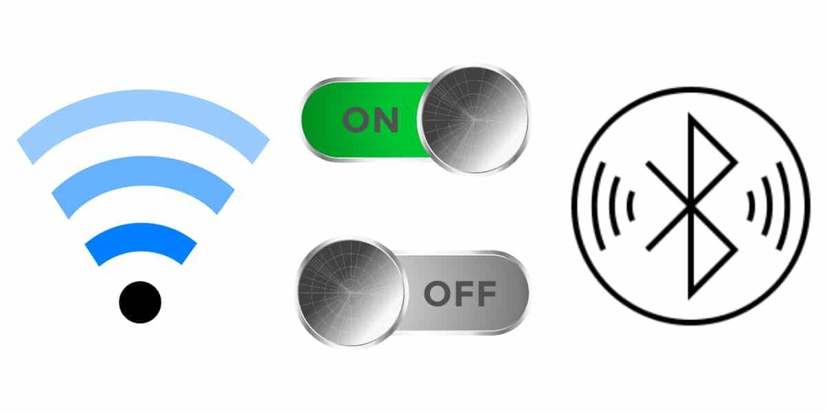 Desactivar bluetooth y wifi