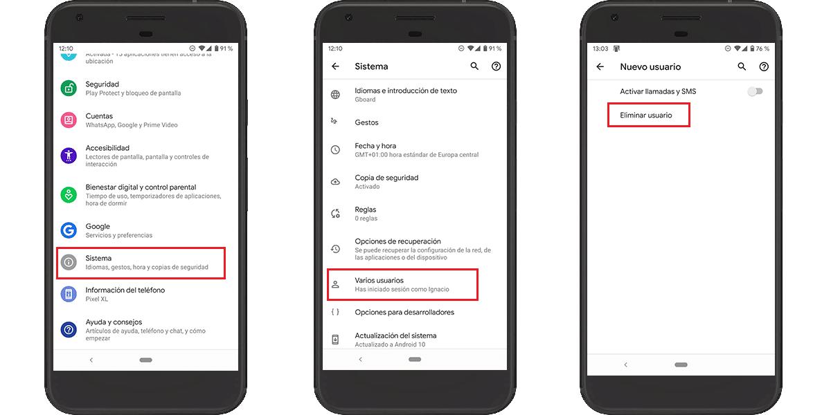 Eliminar cuenta de usuario en Android