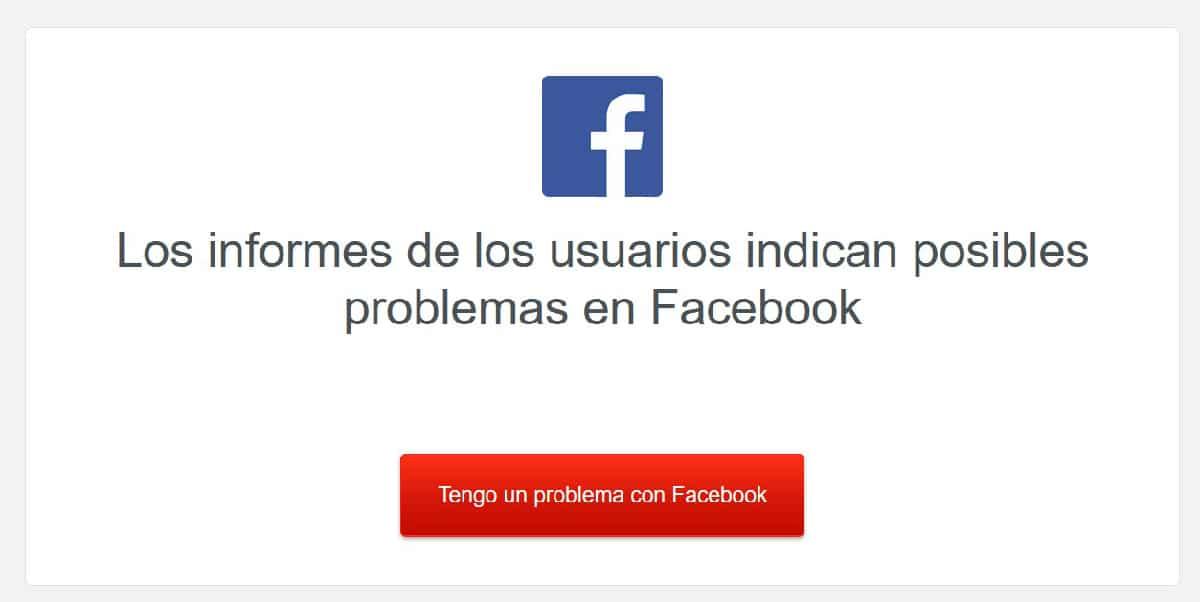 Facebook no funciona