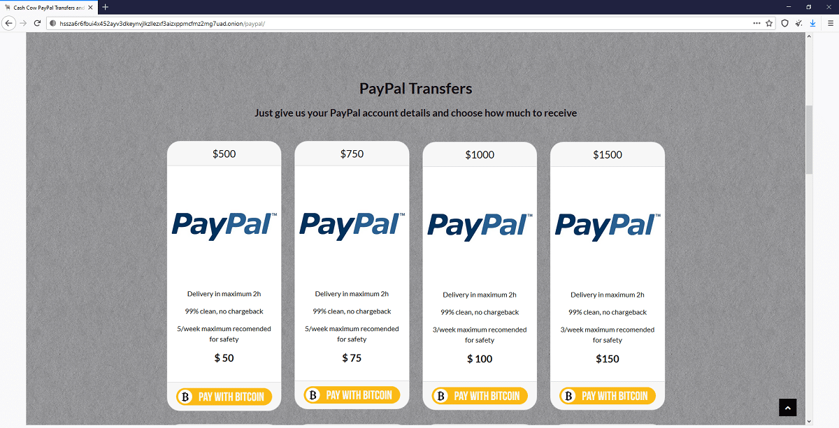 Cuentas robadas PayPal