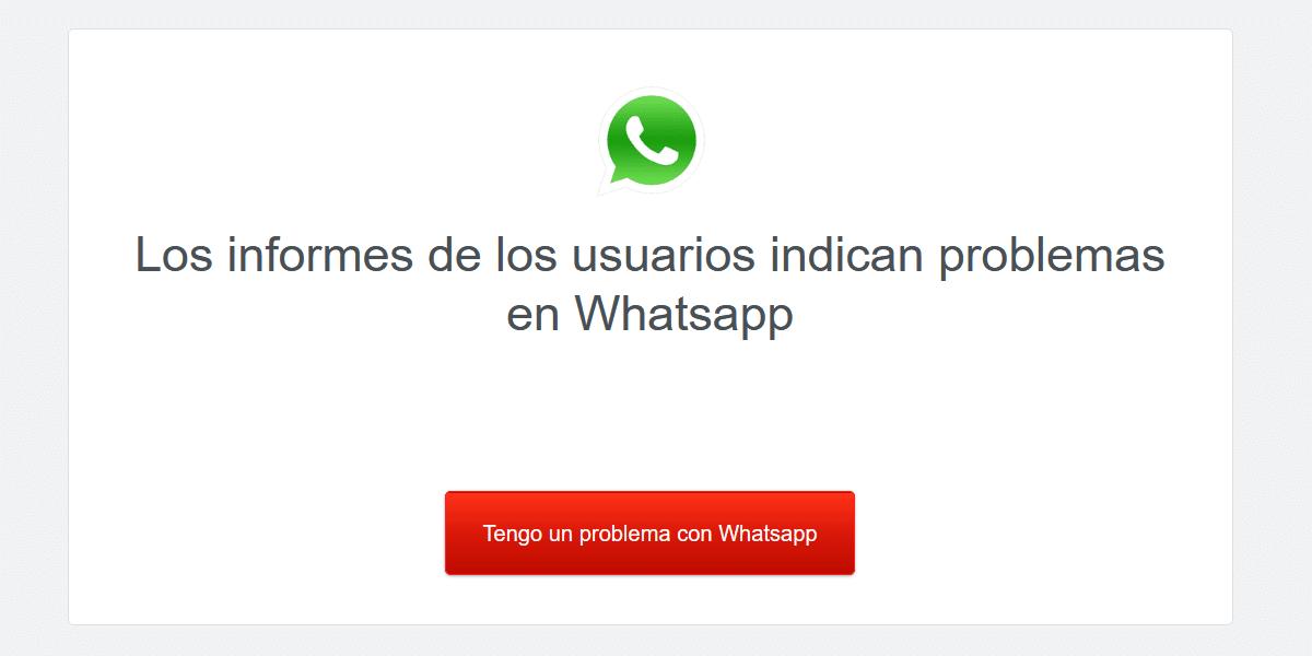 WhatsApp caído