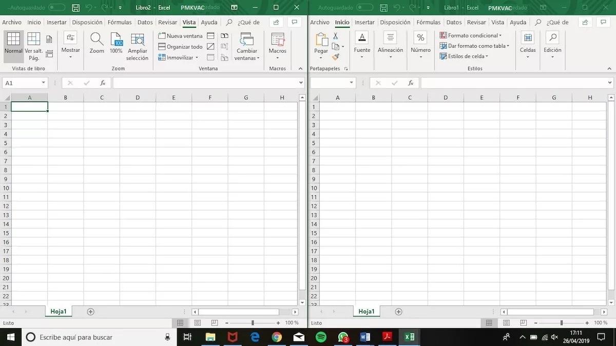 dividir pantalla Excel