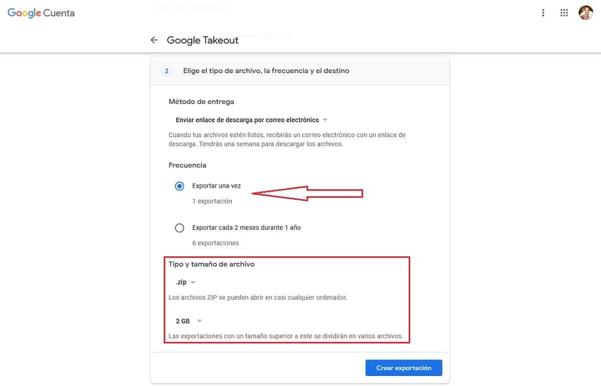 Copia seguridad datos de cuenta de gmail