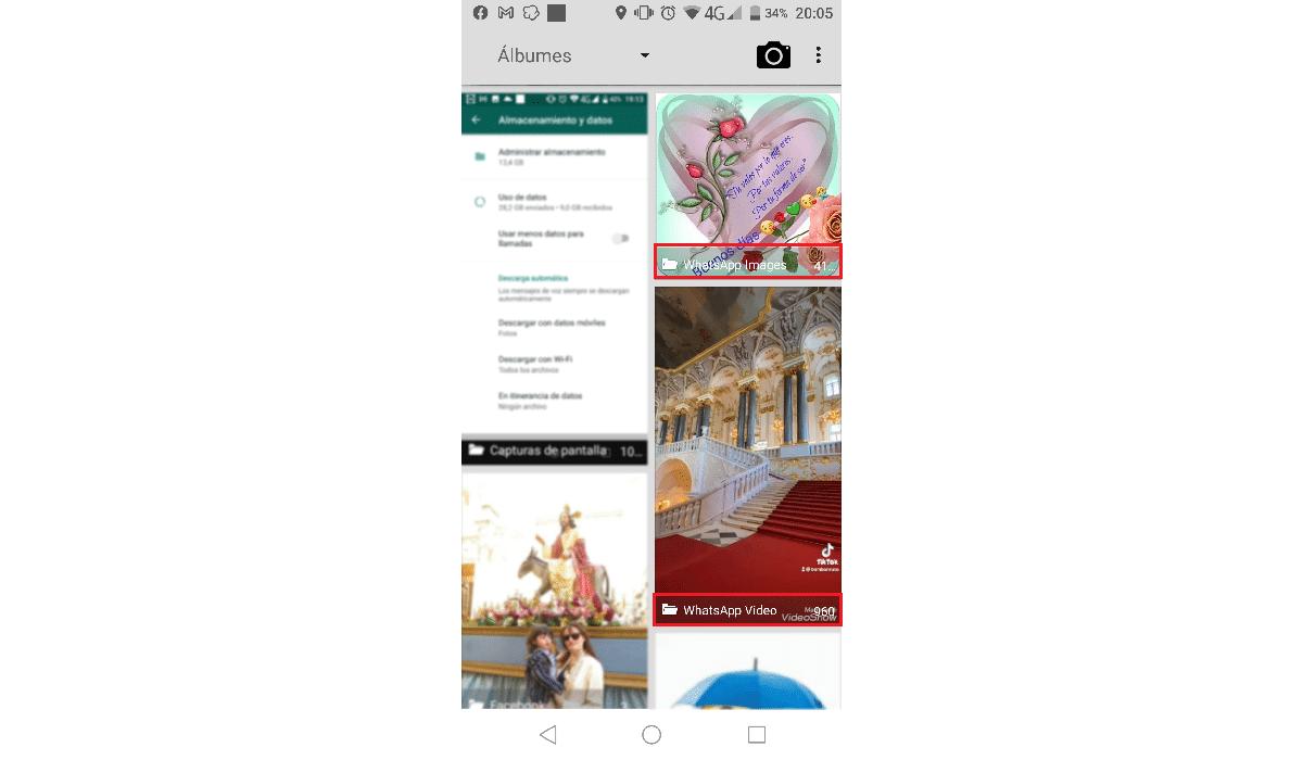 Galería fotos WhatsApp en Android