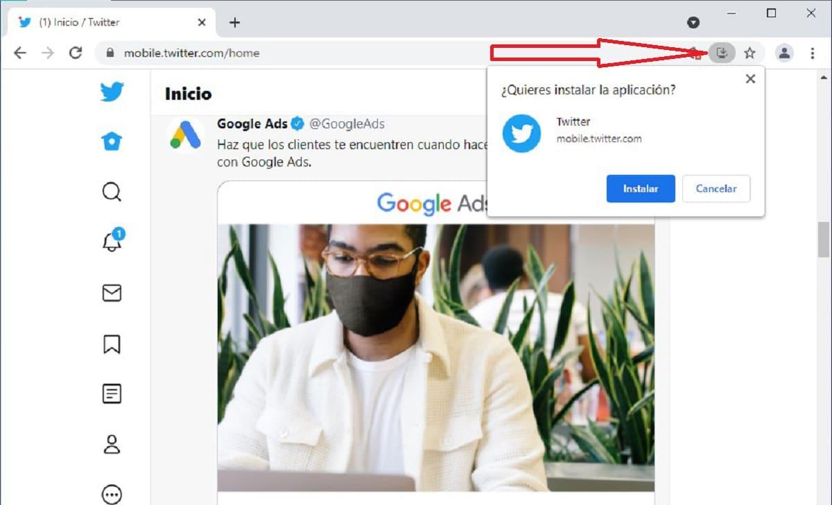 Cómo instalar PWA en Chrome