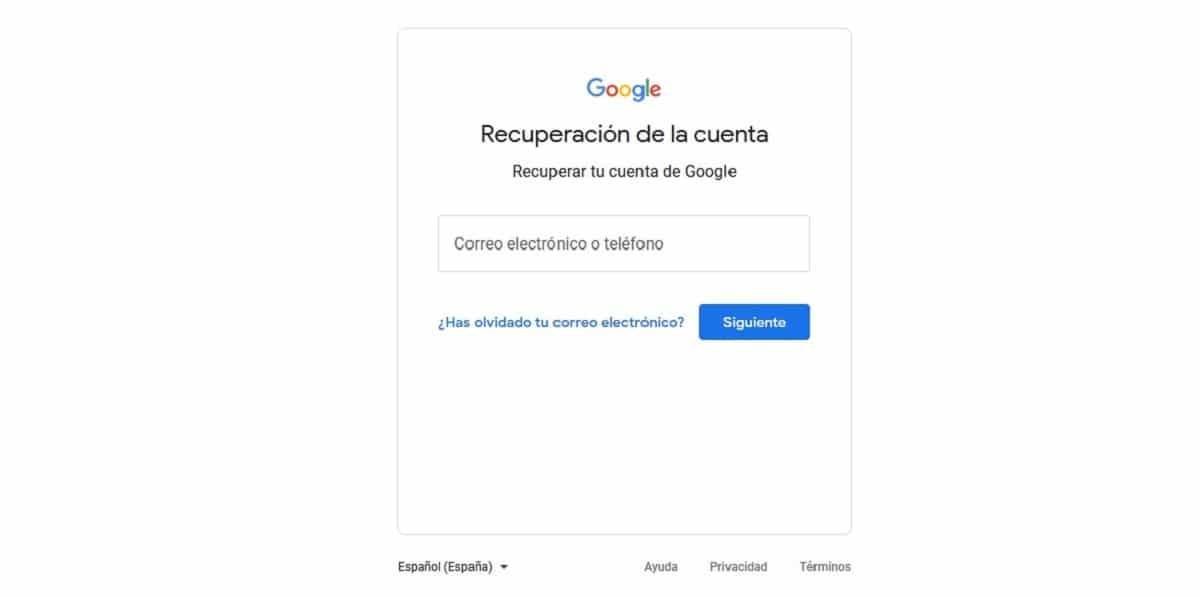 Recuperar cuenta Gmail borrada