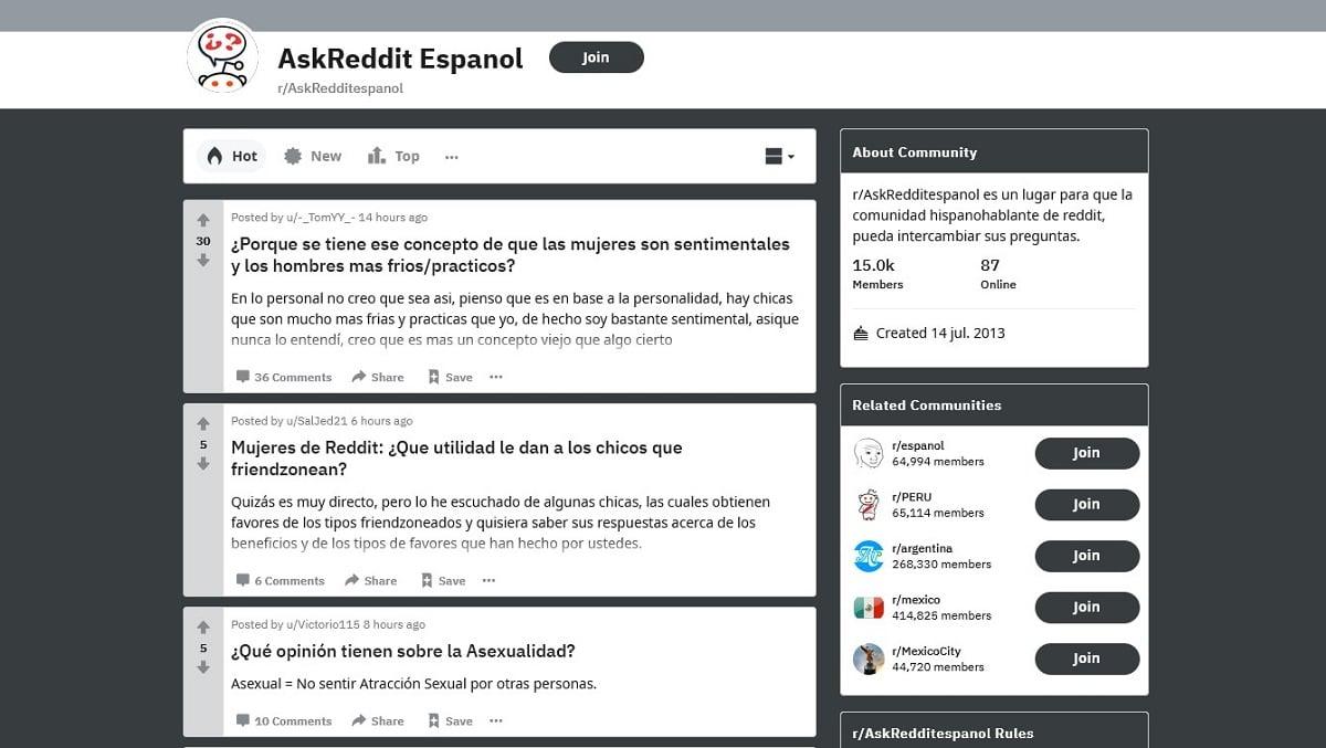 Reddit español