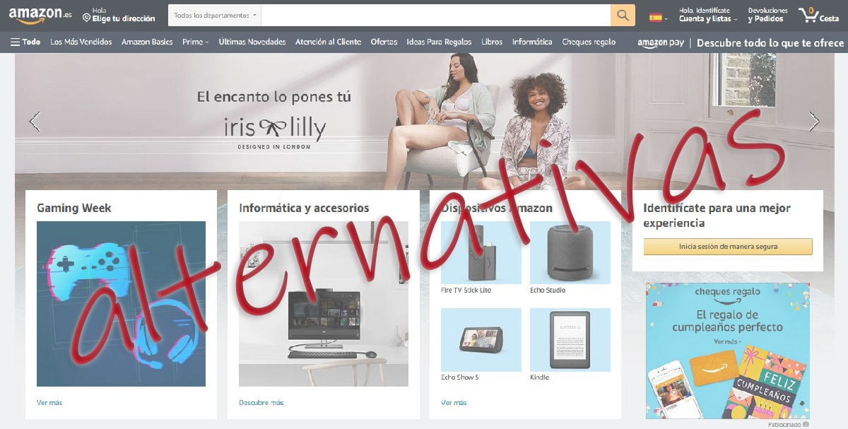 Alternativas a Amazon