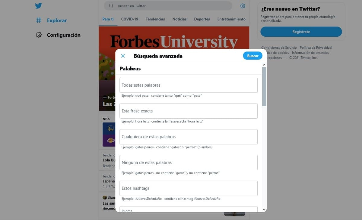 búsquedas de contenido