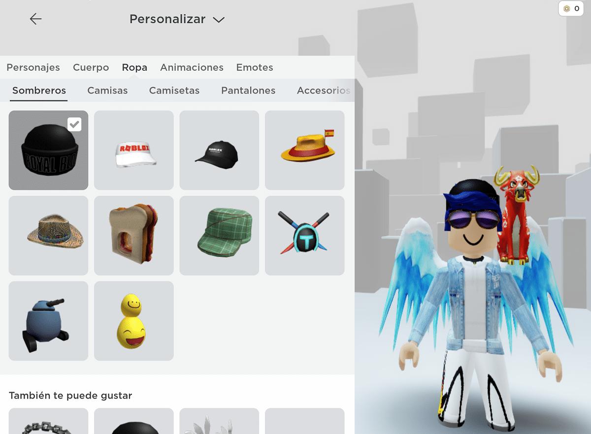Personalizar personaje Roblox