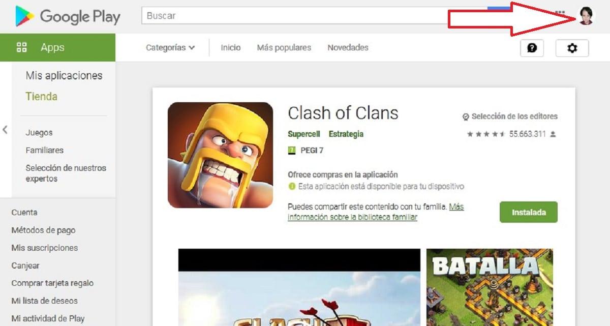 Cuenta Clash of Clans