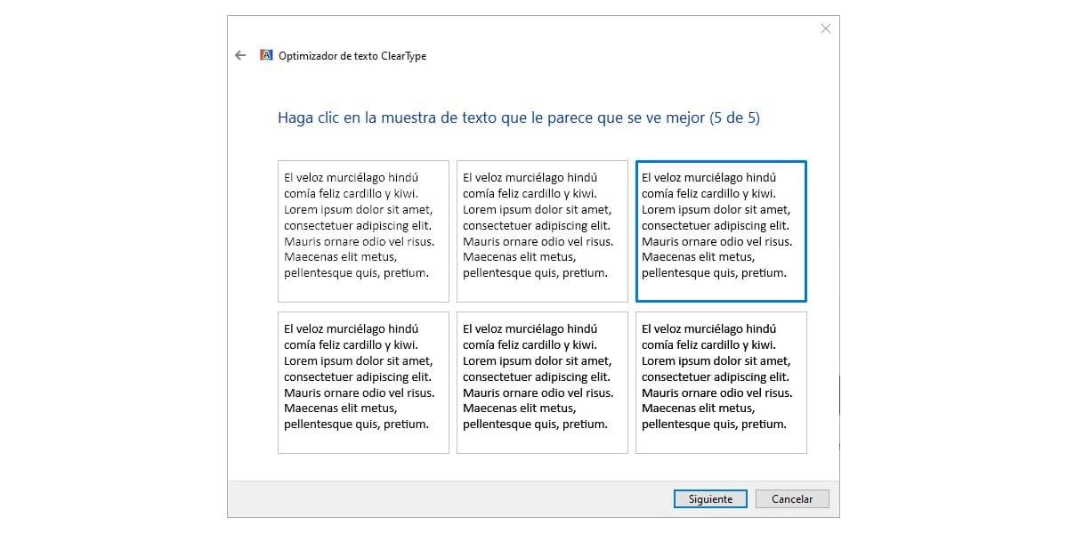 Configurar ClearType