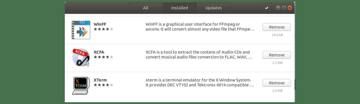 eliminar aplicaciones ubuntu con interfaz gráfica