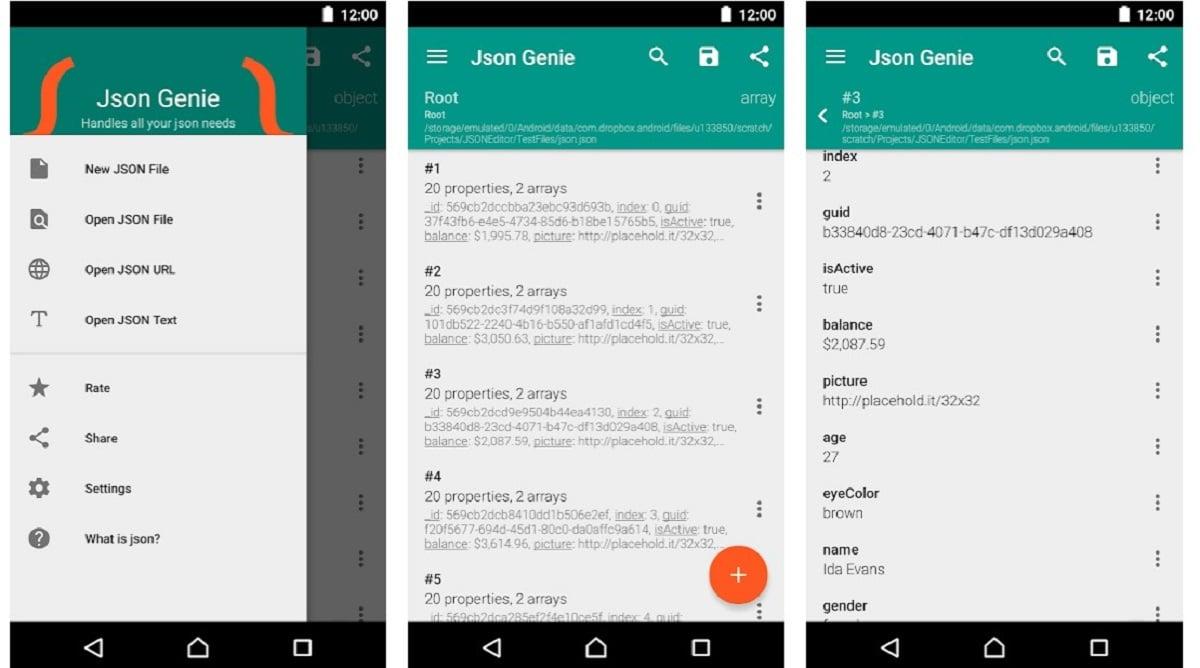 abrir archivos json en android