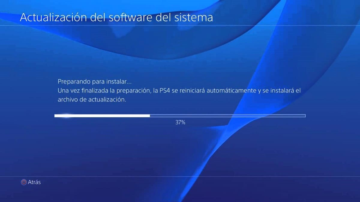 actualizar PS4