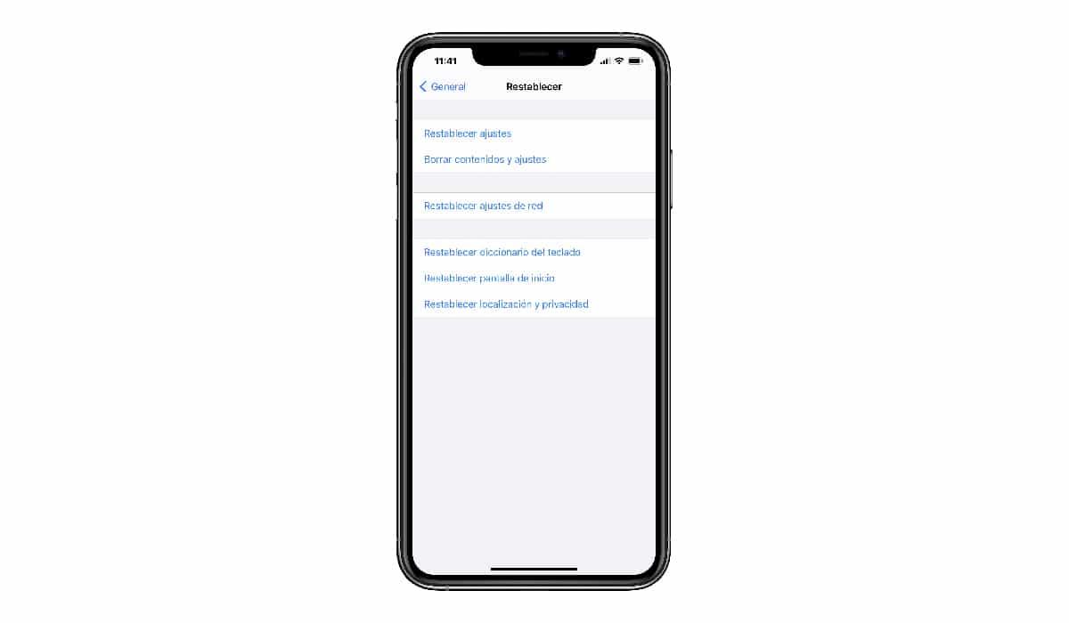 Restaurar dispositivo móvil