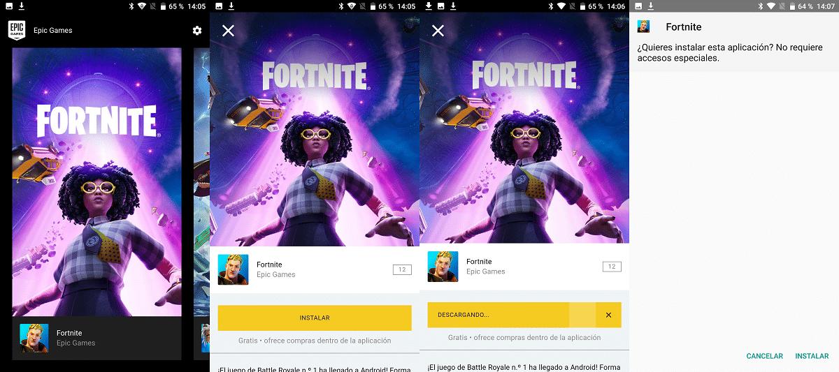 Fortnite desde el instalador de Epic