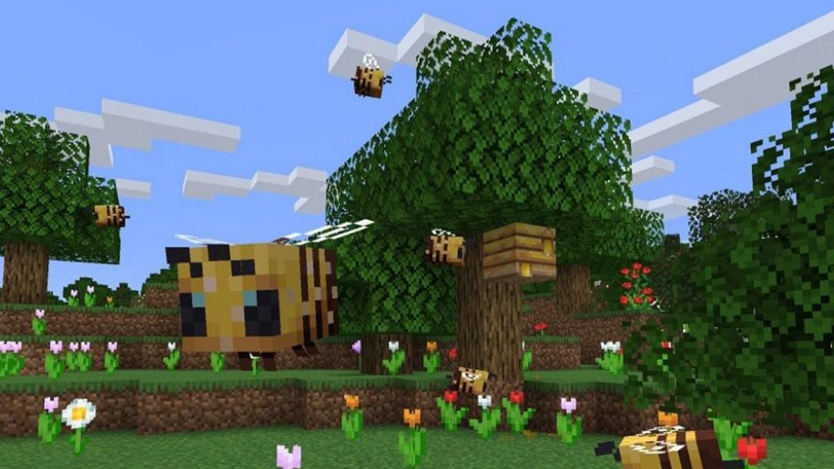 Minecraft colmena abejas miel