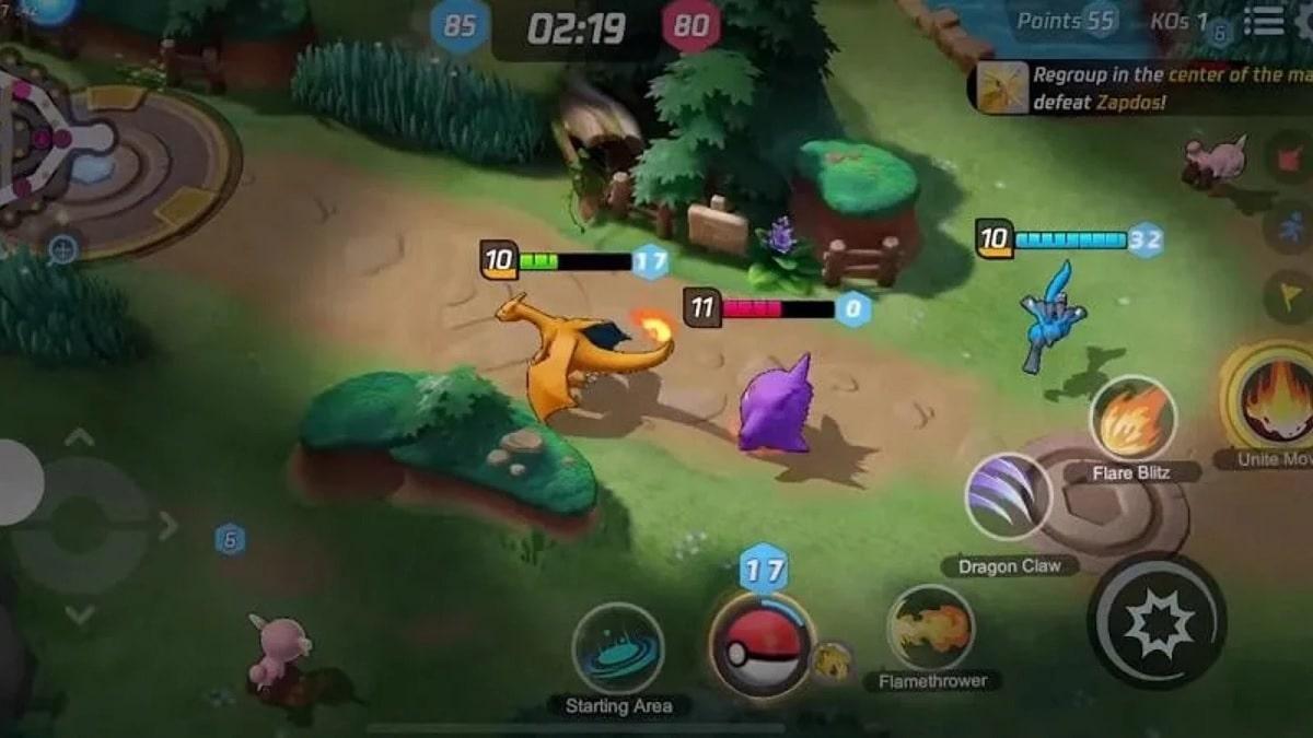 Pokemon Unite interfaz