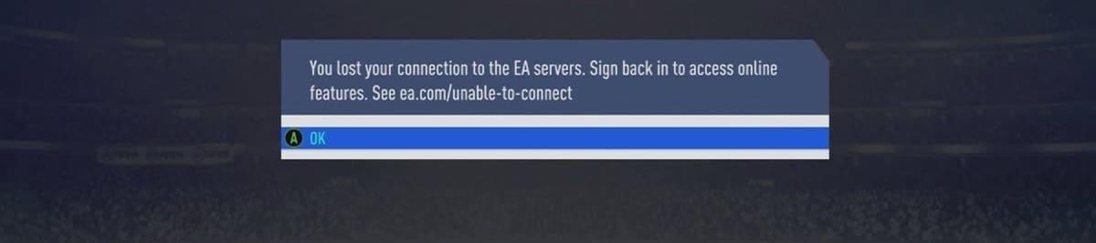 Servidores EA FIFA caidos