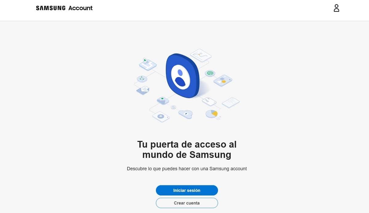 crear una cuenta de Samsung