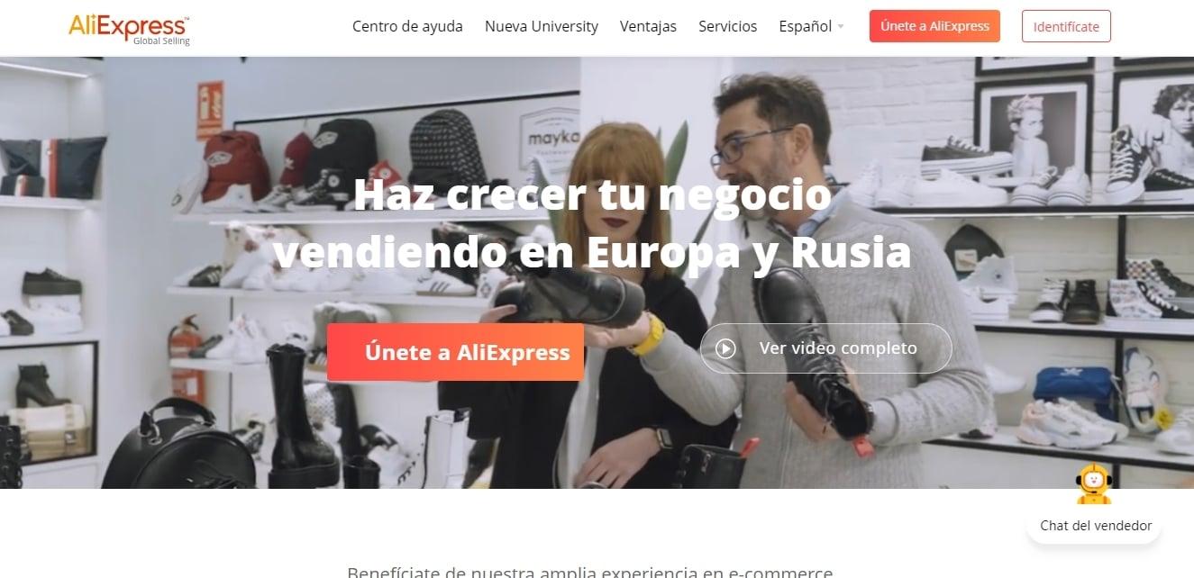 Interfaz Aliexpress