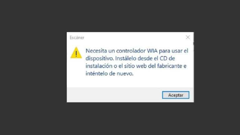 Error controlador WIA