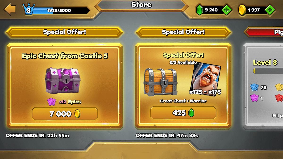 conseguir gemas castle crush