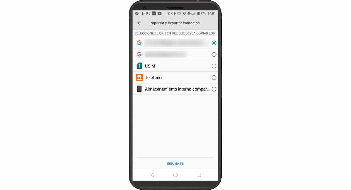 Importar datos agenda desde SIM