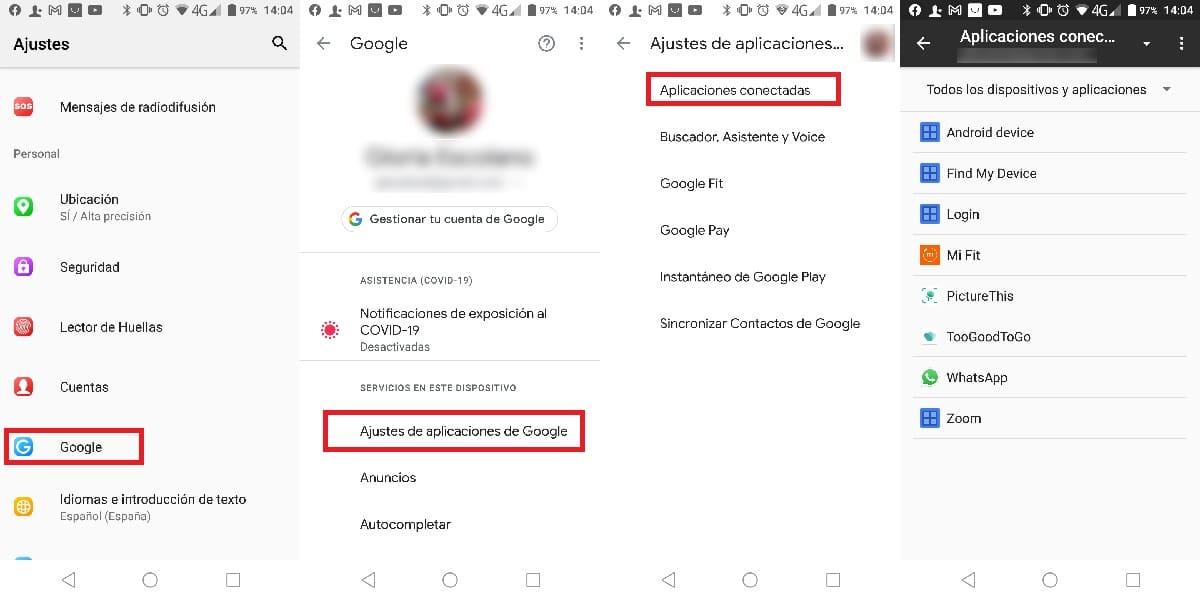 Sincronizar datos aplicaciones con google
