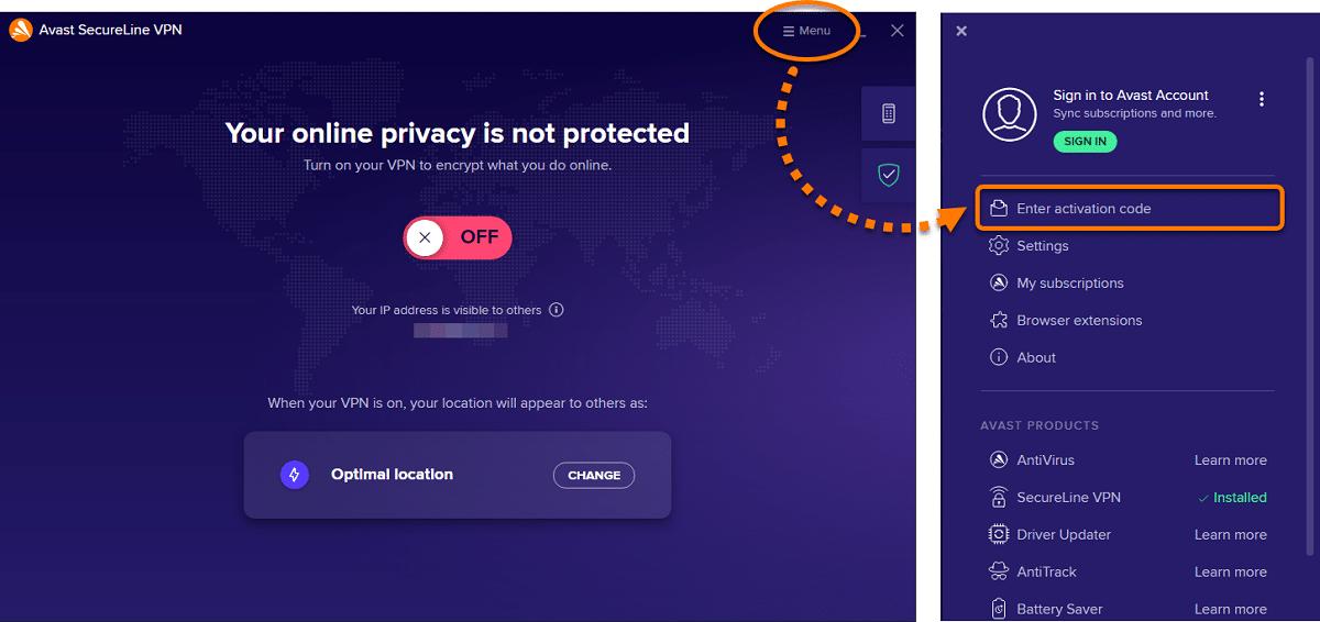 SecureLine VPN Avast