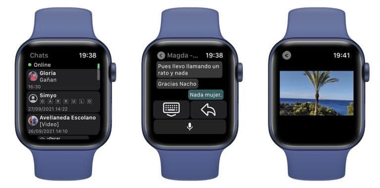WhatsApp en Apple Watch