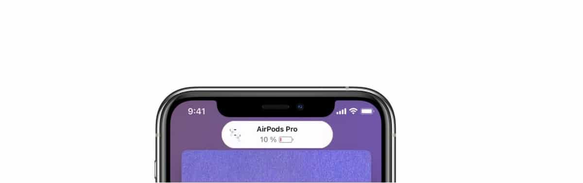 Bateria AirPods Pro en iPhone