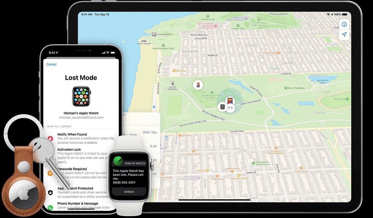 Find my iPhone mapa