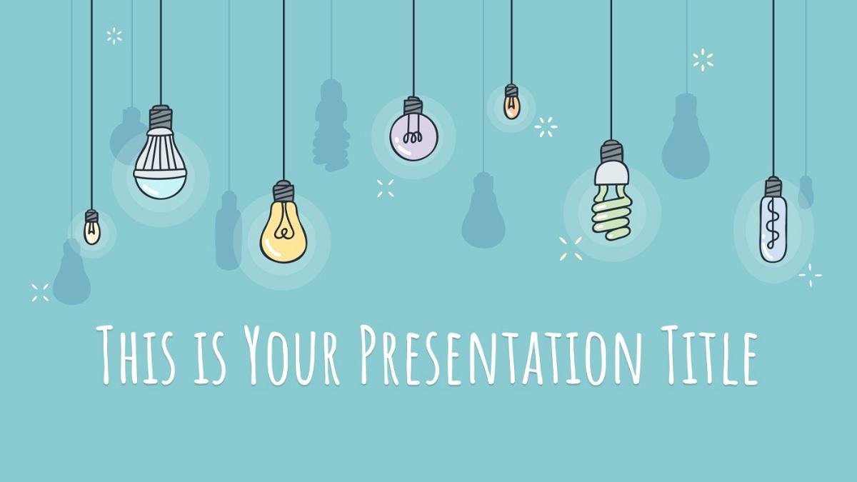 Plantilla PowerPoint educacion bombillas