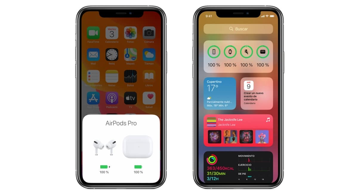 Ver bateria AirPods en iPhone