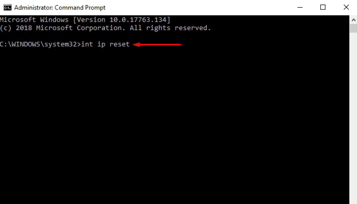 Reinicio TCP/IP