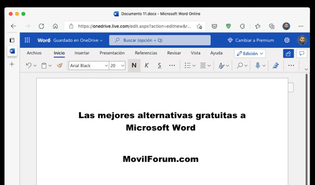 Alternativas gratuitas a Word para Mac