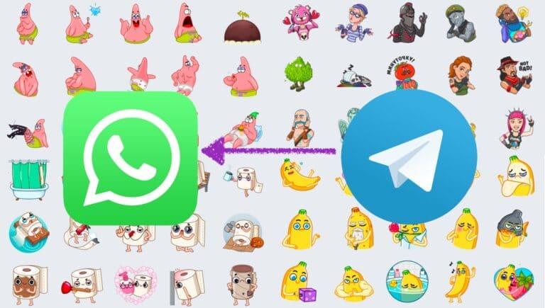 Pasar stickers de Telegram a WhatsApp